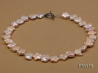 Classic 15mm Pink Flower-shaped Freshwater Pearl Necklace