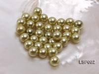 Wholesale 10mm Round Silver Yellow Seashell Pearl Bead