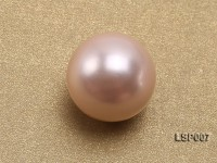 Wholesale 12-12.5mm Pink Round Seashell Pearl Bead