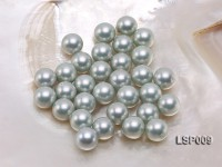 Wholesale 12mm Silver Round Seashell Pearl Bead