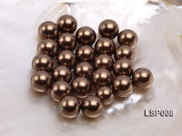 Wholesale 14mm Round Black Seashell Pearl Bead