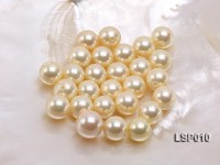 Wholesale 12.5mm Yellow Round Seashell Pearl Bead