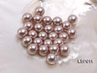 Wholesale 12.5mm Lavender Round Seashell Pearl String
