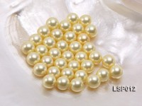 Wholesale 10mm Round Yellow Seashell Pearl Bead