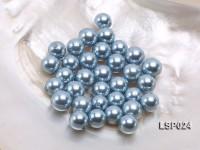 Wholesale 10-12.5mm Light Blue Round Seashell Pearl Bead