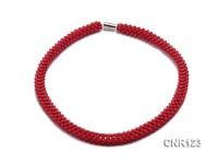 2-3mm Round Red Coral Necklace