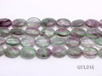 Wholesale 16x20mm Colorful Elliptical Fluorite String