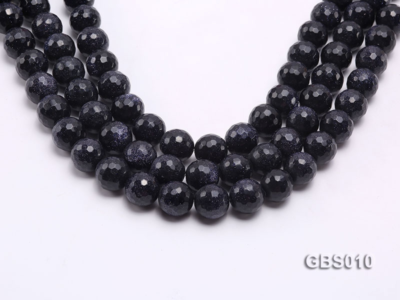 wholesale 16mm faceted round Blue Sandstone strings