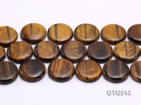 Wholesale 30mm Round Tigereye Pieces Strings