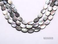 Wholesale 13x19mm Black Oval Seashell String