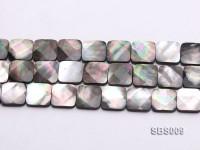 Wholesale 15mm Black Square Seashell String