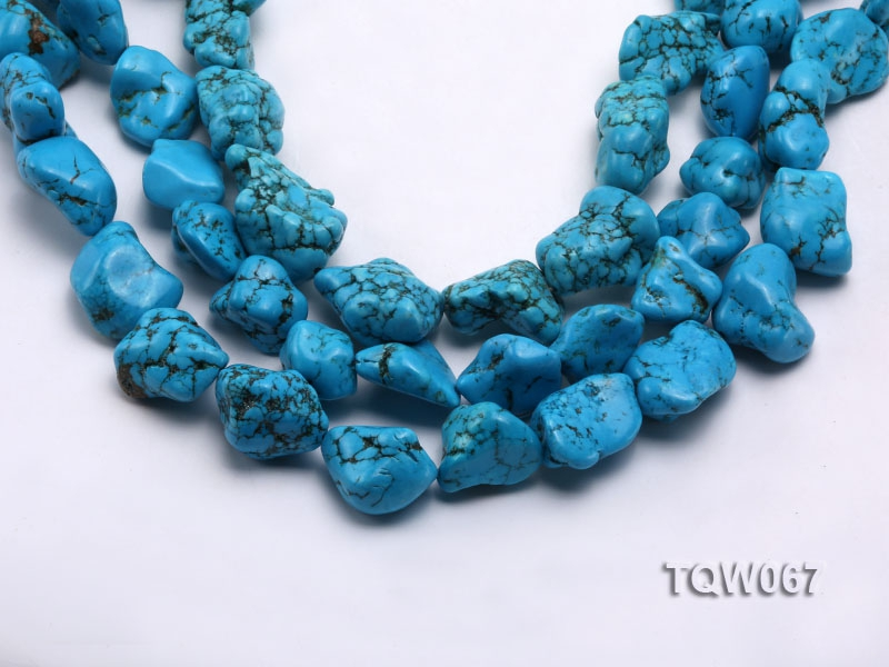 Wholesale 20x25mm Irregular Blue Turquoise Pieces String