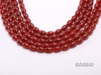 wholesale 8x12mm red oval shape agate strings