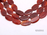 wholesale 20x35mm red oval agate strings