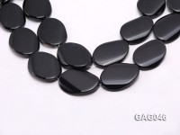 wholesale 30x40mm black oval agate strings