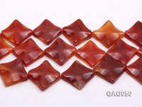 wholesale 25mm red flat square agate strings