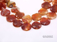 wholesale 35mm red flat round agate strings
