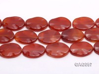 wholesale 30x40mm oval red agate pieces strings