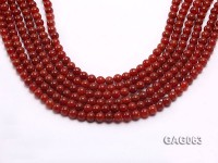 wholesale 6mm round red agate strings
