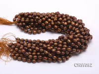 Wholesale 9x12mm Oval Golden Coral Beads Loose String
