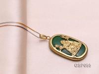 18x30mm Green Buddha-Head Jade Pendant