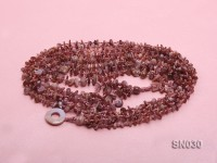 Eight-strand Pink Shell Necklace