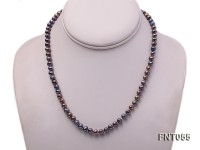 5-6mm Black Freshwater Pearl Necklace, Bracelet and Earrings Set
