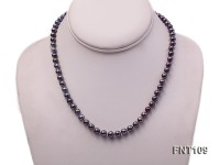 6-7mm Dark-purple Freshwater Pearl Necklace and Bracelet Set