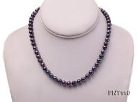 7-8mm Dark-purple Freshwater Pearl Necklace, Bracelet and Earrings Set