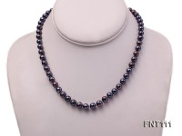 7-7.5mm Dark-purple Freshwater Pearl Necklace and Bracelet Set