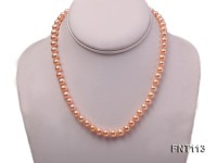 7-8mm Pink Freshwater Pearl Necklace and Bracelet Set