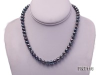 8-9mm Black Freshwater Pearl Necklace and Bracelet Set