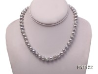 8-8.5mm Gray Freshwater Pearl Necklace, Bracelet and Earrings Set