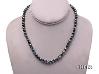7-7.5mm Black Freshwater Pearl Necklace, Bracelet and Earrings Set