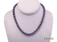 6-7mm Black Freshwater Pearl Necklace and Bracelet Set