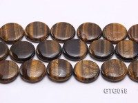wholesale 25mm Oval Tigereye Pieces Strings