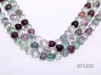 Wholesale 12mm Colorful Heart-shaped Fluorite String