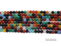 wholesale 4mm round colorful agate strings