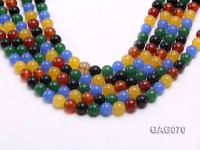 wholesale 10mm round colorful agate strings