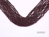 Wholesale 3.5mm Deep Red Round Garnet String