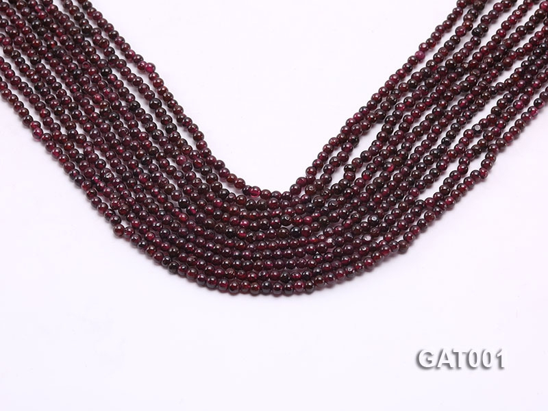 Wholesale 3.5mm Deep Red Round Garnet String
