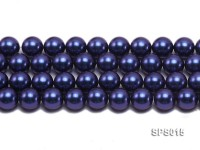 Wholesale 12mm Dark Blue Round Seashell Pearl String