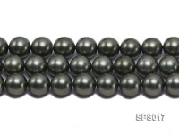 Wholesale 12mm Black Green Round Seashell Pearl String