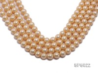 Wholesale 12mm Round Yellow Seashell Pearl String