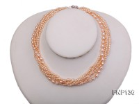 Multi-strand Pink Cultured Freshwater Pearl Necklace