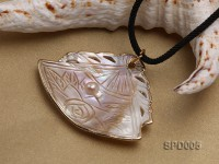 55mm Fan-shaped White Shell Pendant