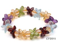 6x8mm Colorful Faceted Crystal Bracelet