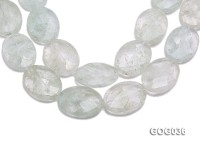 Wholesale 30x40mm Light Green Crystal-like Faceted Stone String