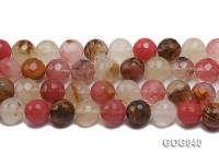Wholesale 16mm Colorful Round Faceted Stone String