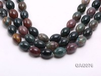 wholesale 15x20mm oval shape moss agate strings